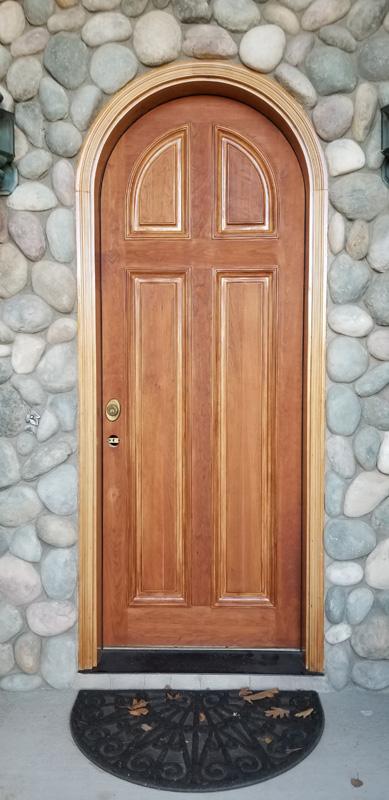 Door Refinishing Before