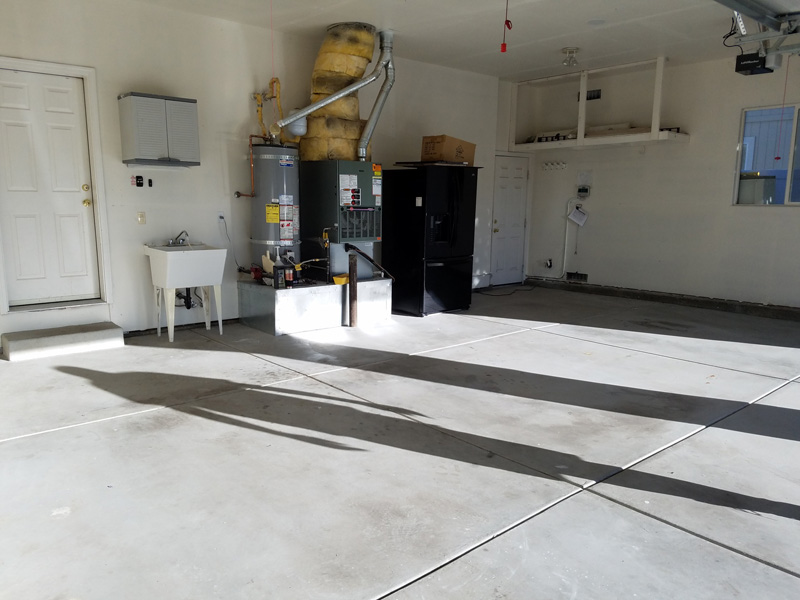 Epoxy Garage Floor - Before