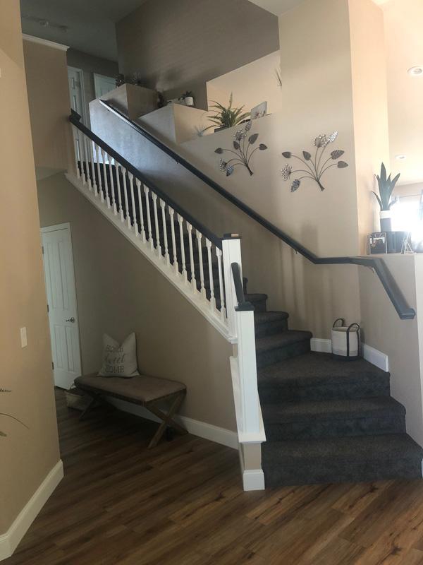Repainted Stairway Railing After
