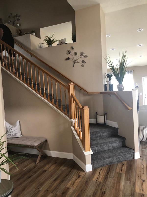 Repainted Stairway Railing Before