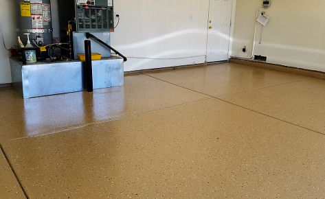 Newly Painted Epoxy Garage Floor